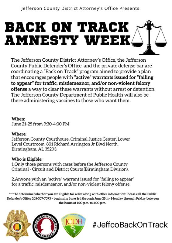 Amnesty Week Details